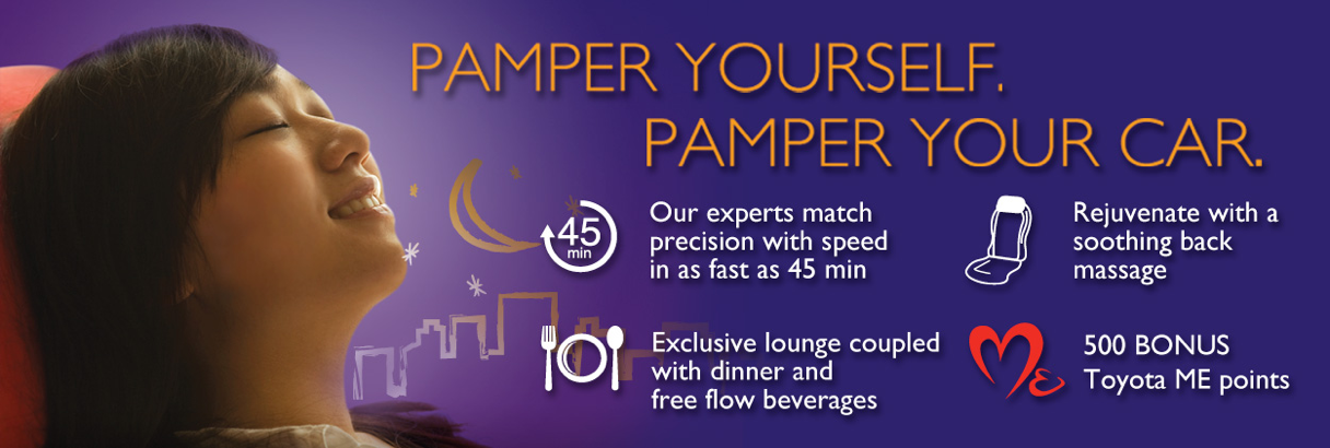 Pamper yourself, pamper your car.