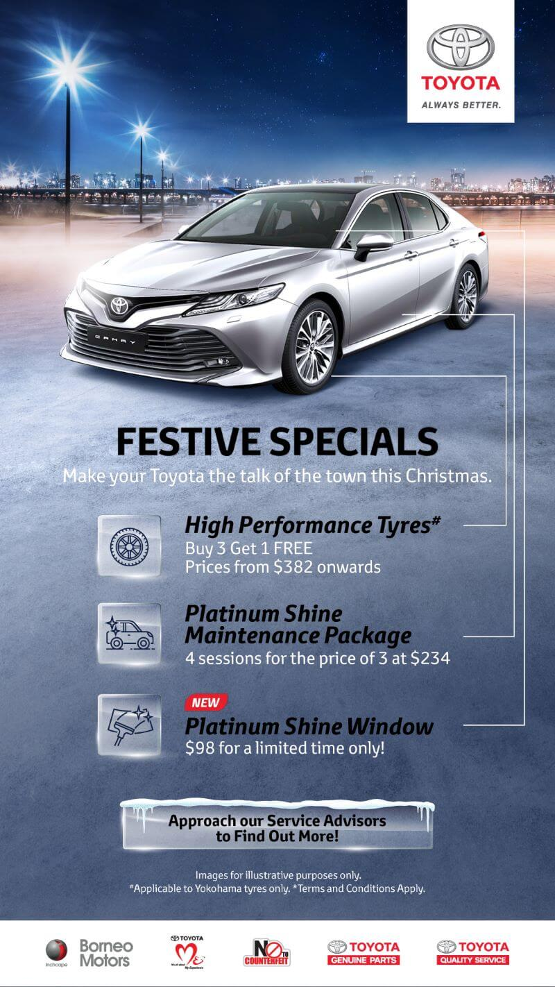 Toyota Tyres and Platinum Shine Promotion
