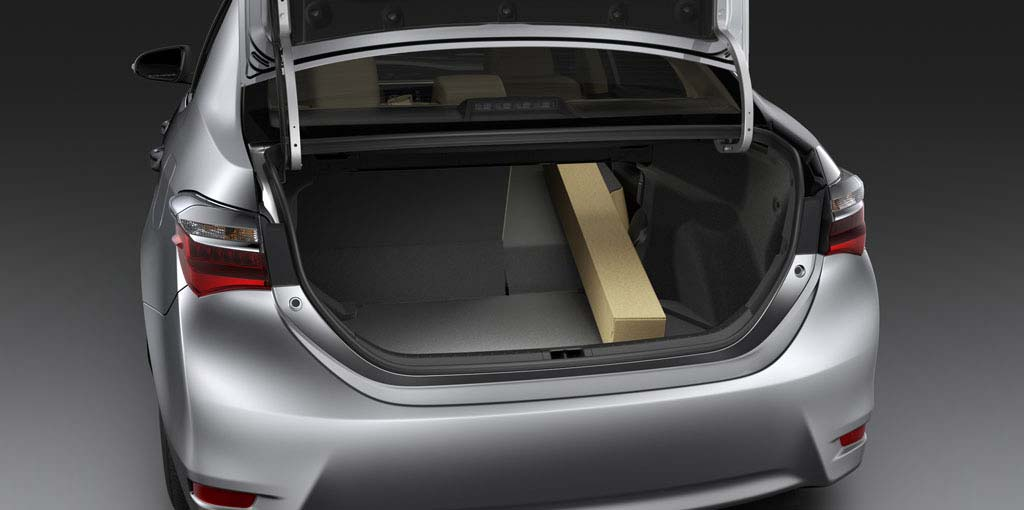 Toyota Corolla - Large Trunk Space