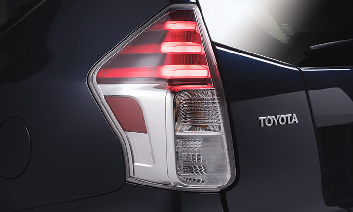 Toyota Prius Plus 7 Seater MPV - LED Rear Combination Lamps