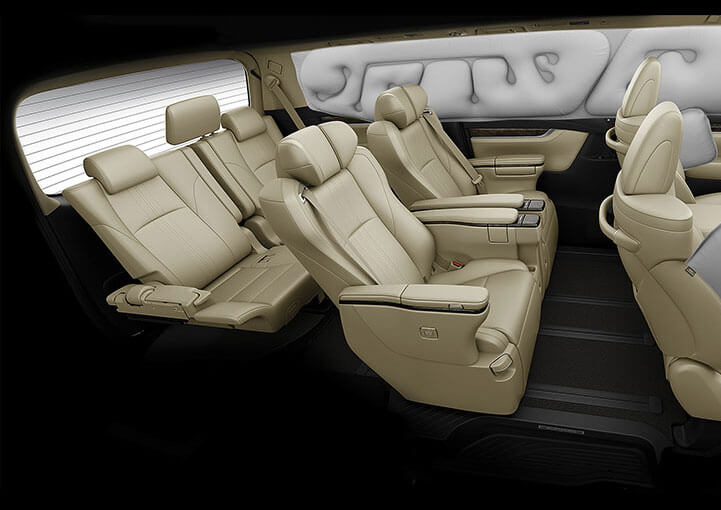 Toyota Vellfire - 7 SRS Airbags