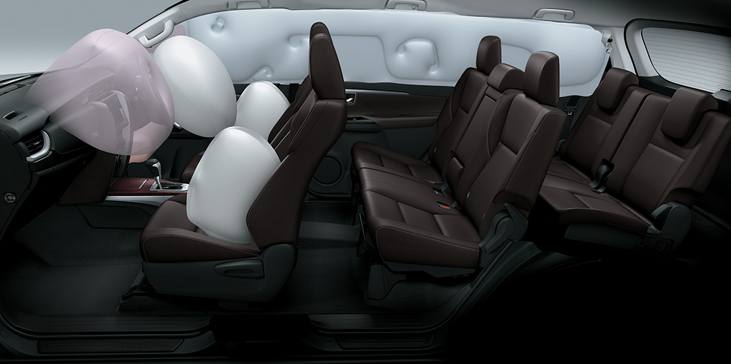 Toyota Fortuner - 7 SRS Airbags